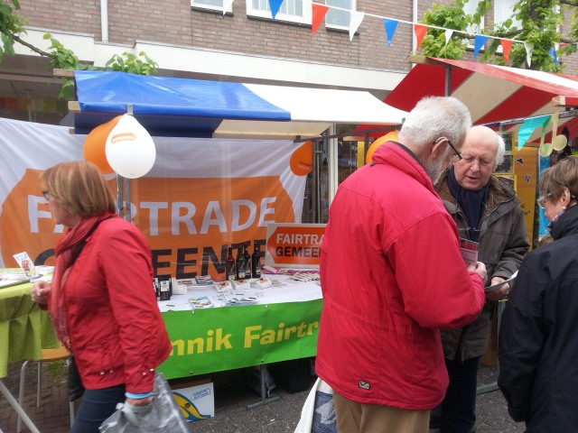 Campagne Fairtrade op Bunnik Fair 2013 - foto